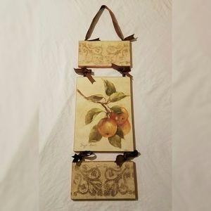 Hanging Fuji Apples Fruit Art Panels